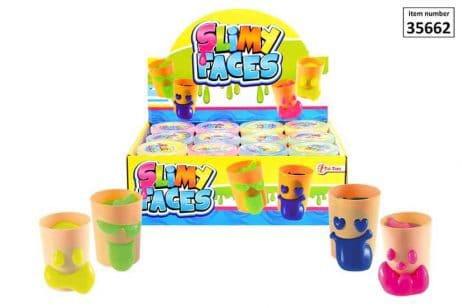 BOX DE PÂTE SLIME (Assortiment de 4 couleurs) Pots de 65 grammes
