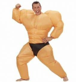 Costume bodybuilder gonflable