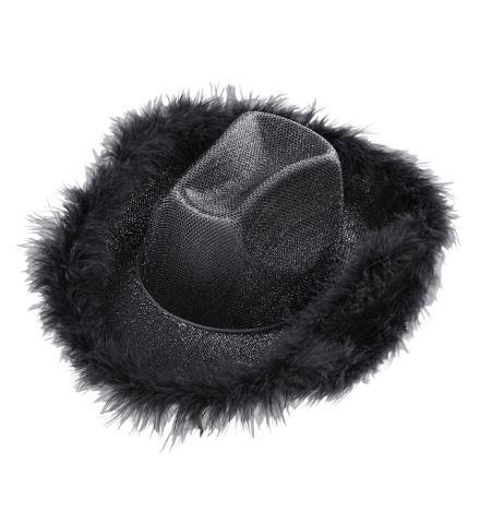 Chapeau de cowgirl noir