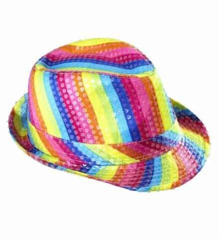 CHAPEAU ARC EN CIEL (Chapeau Gay pride) Chapeau paillettes