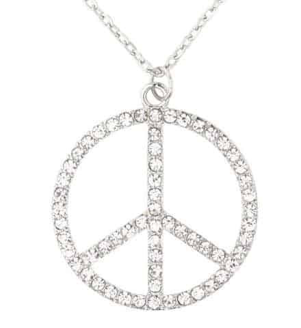 COLLIER HIPPIE STRASS (Peace and love)