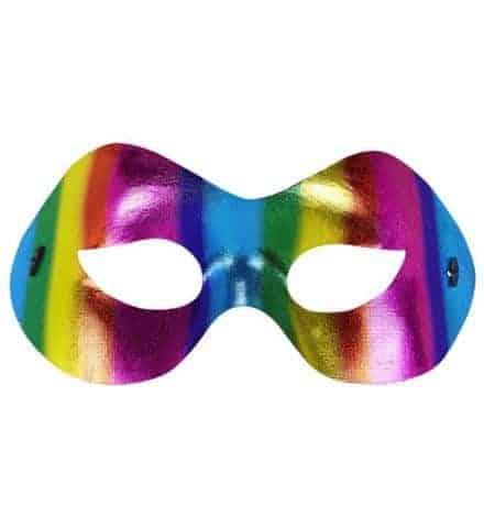 LOUP ARC EN CIEL MÉTAL  (Masque parade - Gay pride) Modèle Fidélio