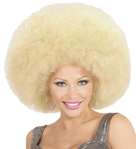 PERRUQUE AFRO BLONDE (Perruque afro extra volume) Top qualité - en sachet