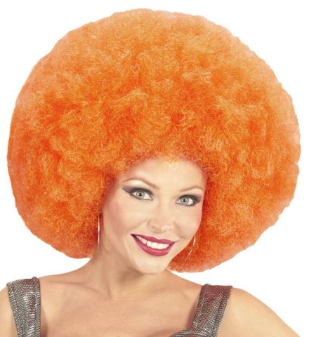 PERRUQUE AFRO ORANGE (Perruque afro extra volume) Top qualité - en sachet