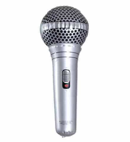 MICROPHONE GONFABLE (Dimension 25 cm)