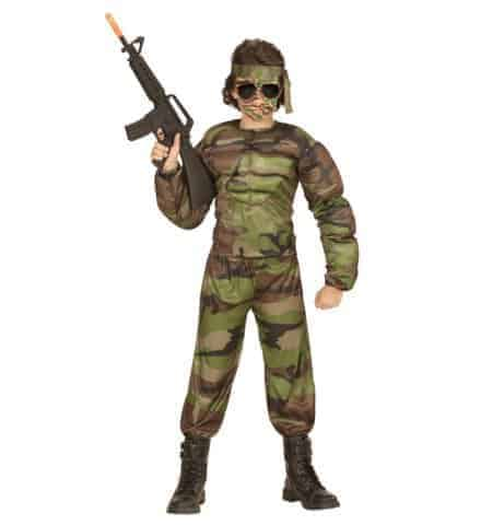 Costume super soldat enfant