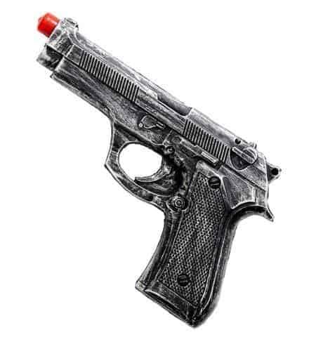 PISTOLET AUTOMATIQUE (Pistolet en mousse de latex) Pistolet authentique - 19 cm