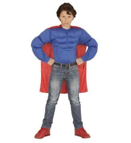 SUPER HÉROS MUSCLÉ (Chemise muscles + cape) Tailles enfants - Démo vidéo