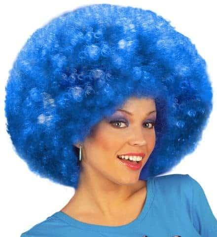 Perruque jimmi bleue