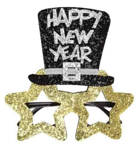 LUNETTES HAPPY NEW YEAR (Paillettes or nouvel an) Bonne année