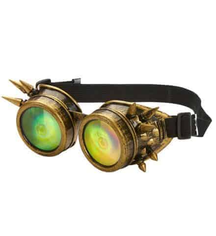 Lunettes steampunk hologramme