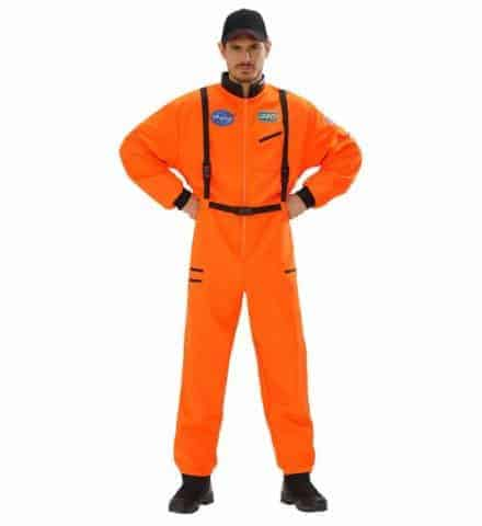 Costume néon orange nasa