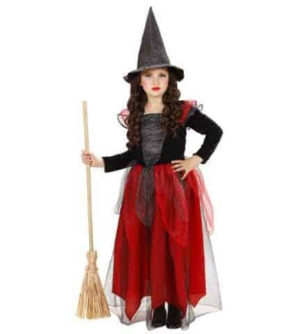 Petite sorciere rouge et noir