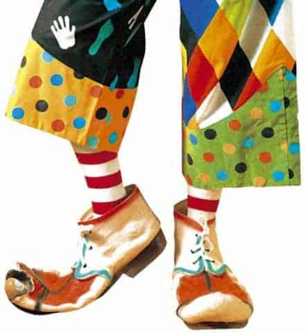 Chaussures clown en latex