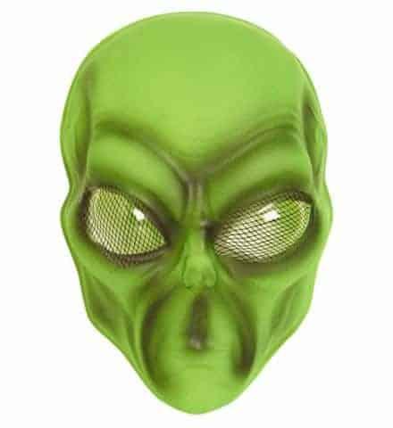 Masque alien vert en pvc