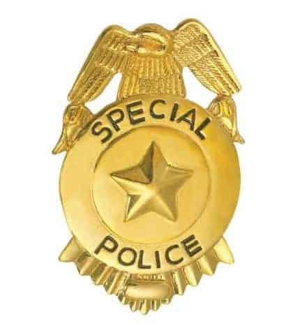 BADGE F.B.I. EN METAL (Plaque FBI dorée)