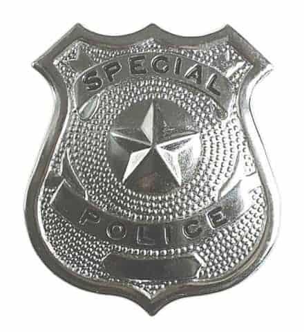 BADGE DE POLICE EN METAL