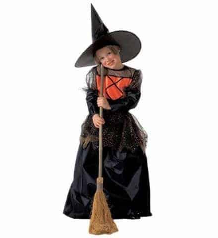 COSTUME PETITE SORCIÈRE (Robe enfant avec chapeau) Tailles de 5 à 13 ans