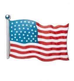 Drapeau USA en pvc