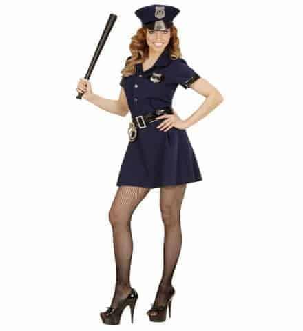 TENUE DE POLICIÈRE SEXY (Robe bleue, ceinture, képi) Tailles adultes - Démo vidéo