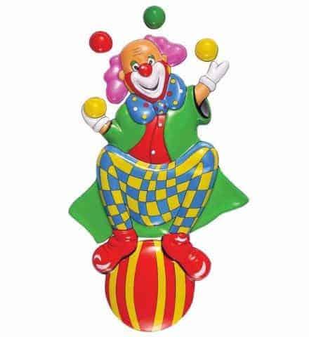 Clown Jongleur 3d Decoration Cirque 100 Cm Ced