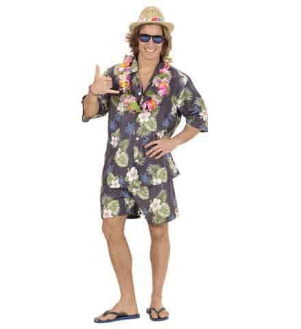 Tenue hawaïenne homme