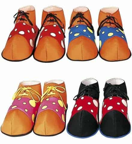 CHAUSSURES MAXI CLOWN (Taille adulte - 4 coloris)