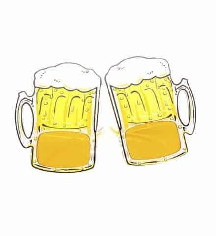 Lunettes chopes de biere
