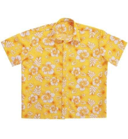 CHEMISES HAWAÏENNES (Pack 4 chemises jaunes)