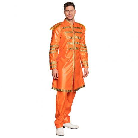 COSTUME CHANTEUR POP (Costume Britpop Orange) Tailles adultes