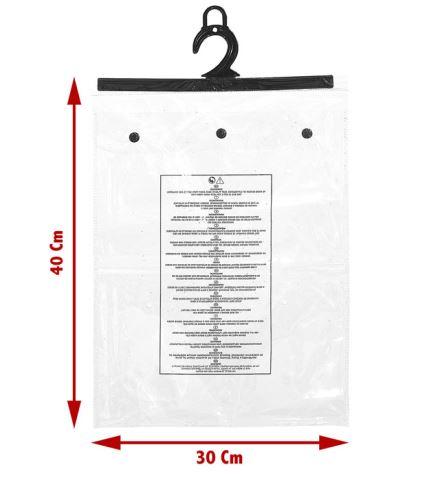 HOUSSE DE COSTUME PVC (avec boutons pressions) Taille 30 x 40 x 2.5cm