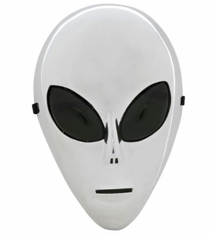 Masque alien blanc