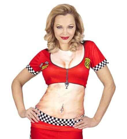T-SHIRT GRID GIRL F1 (Impression photo réaliste) Tailles adultes femmes
