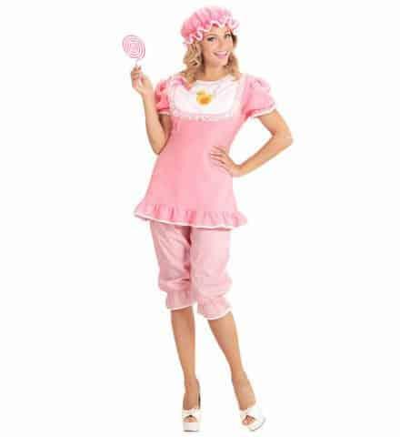 COSTUME GRAND BÉBÉ FILLE (Costume, charlotte, tétine) Tailles adultes - Démo vidéo