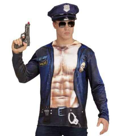 T-shirt imprimé policier us