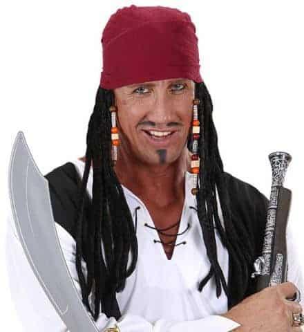 BANDANA PIRATE DU CINÉMA (Le pirate des Caraïbes) Dreadlocks incluses