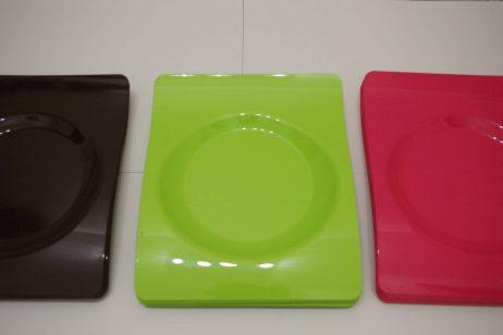 ASSIETTES PLASTIQUE DUR (Assortiment 12 assiettes) Coloris assortis - 2 tailles