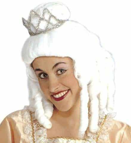 PERRUQUE MARQUISE (Perruque avec sa couronne) en boite