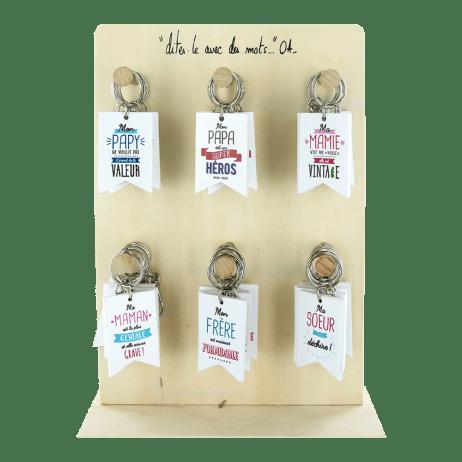 Porte clés famille