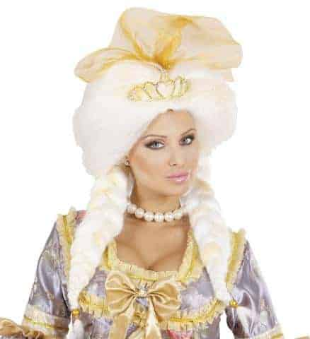 PERRUQUE REINE FANTAISIE (Perruque avec sa couronne) en boite