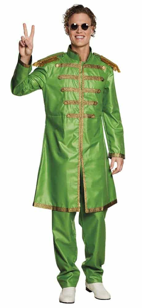 COSTUME CHANTEUR POP (Costume Britpop Vert) Tailles adultes