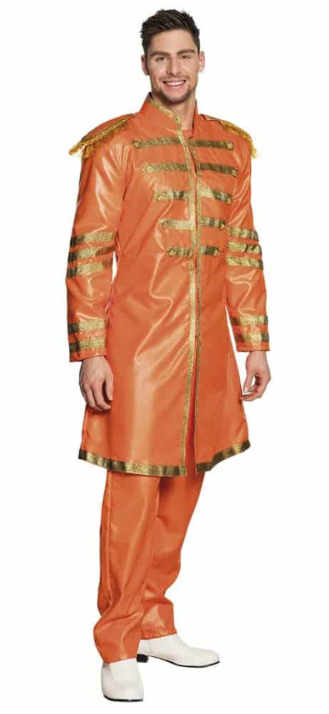 COSTUME CHANTEUR POP (Costume Britpop Orange) Tailles adultes