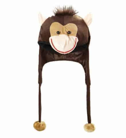 Bonnet écharpe singe