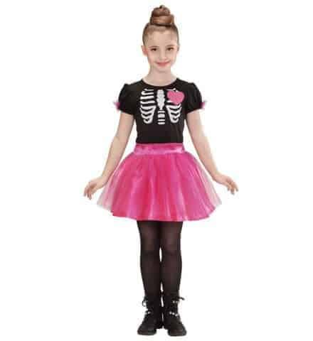 FILLE SQUELETTE BALLERINE (Costume avec tutu rose) Tailles enfants - Démo vidéo