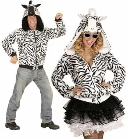 Blouson polaire zebre
