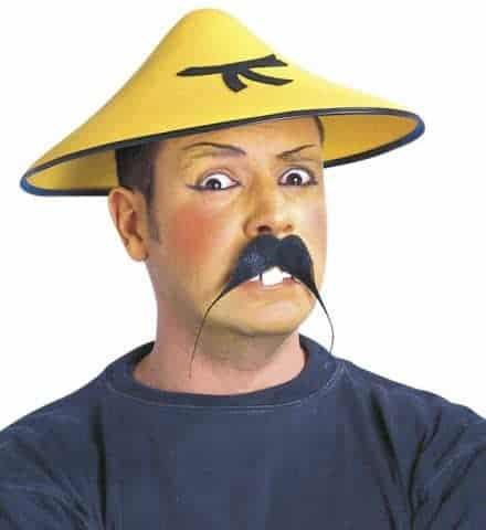 Chapeau chinois jaune