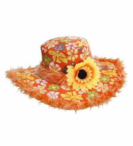 Chapeau orange hippie