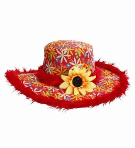 Chapeau ibiza rouge