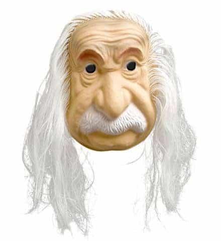 MASQUE ALBERT EINSTEIN (Cheveux et moustaches) Masque en plastique EVA