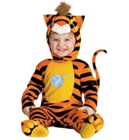 Mascotte tigre enfant